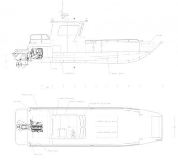 8.6m Landing Craft with Enclosed Wheelhouse