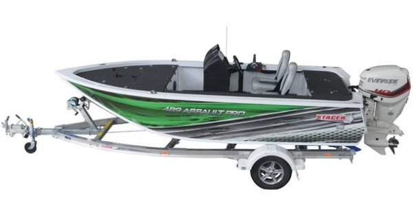 Stacer 489 Assault Pro + Yamaha 75hp Four Stroke Outboard Motor
