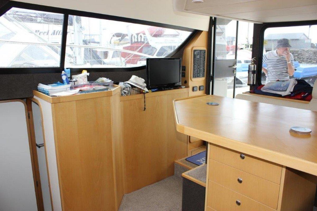 Leisurecat 3500 Sportscruiser Flybridge Cruiser can be extended to 450 (45ft).