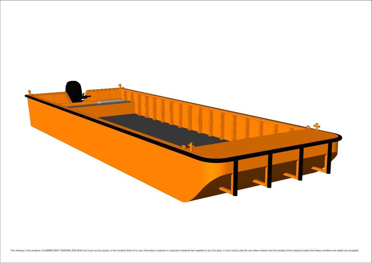 Sabrecraft Marine Work Punt Boat 10.00 x 3.50 Meter
