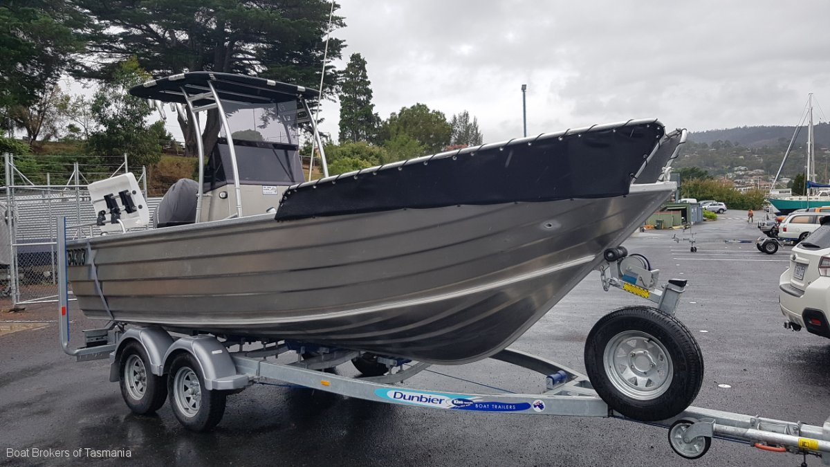 Tri Star Alloy Rear Console Runabout Boat Brokers of Tasmania