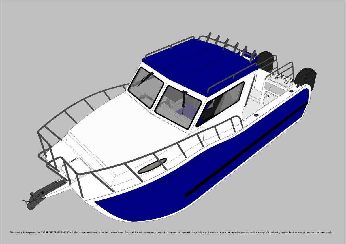 New Sabrecraft Marine Sabrecat 7000 Half Cabin