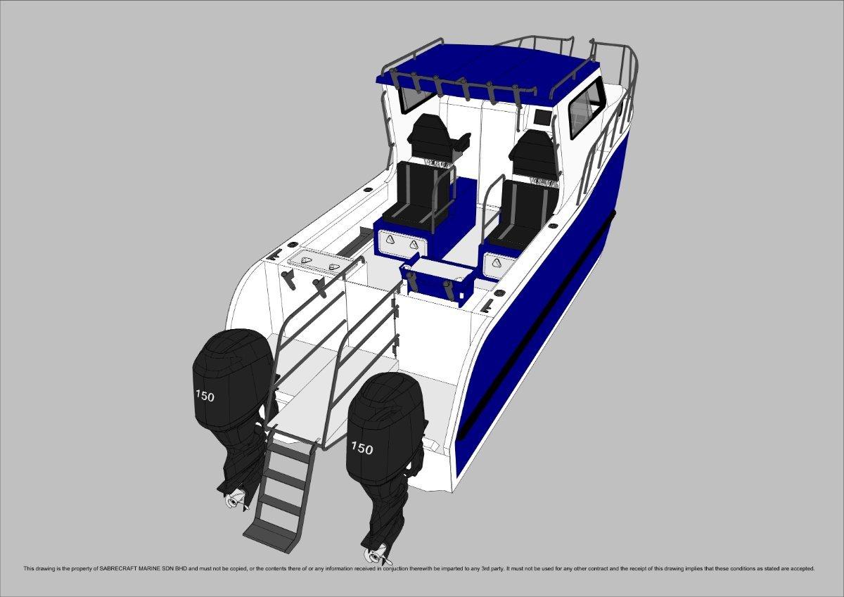 Sabrecraft Marine Sabrecat 7000 Half Cabin