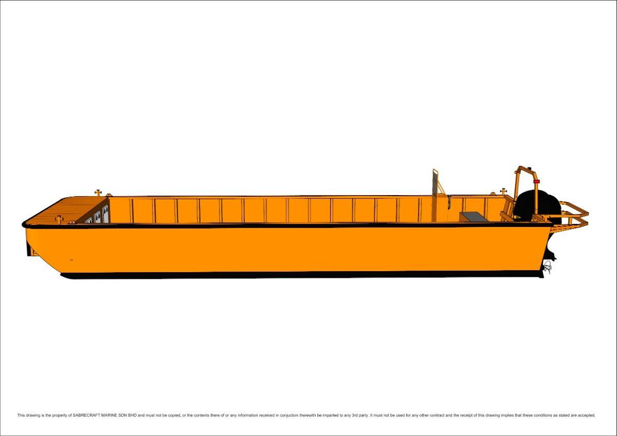 Sabrecraft Marine WB10000-3.5 Work Boat Punt Barge