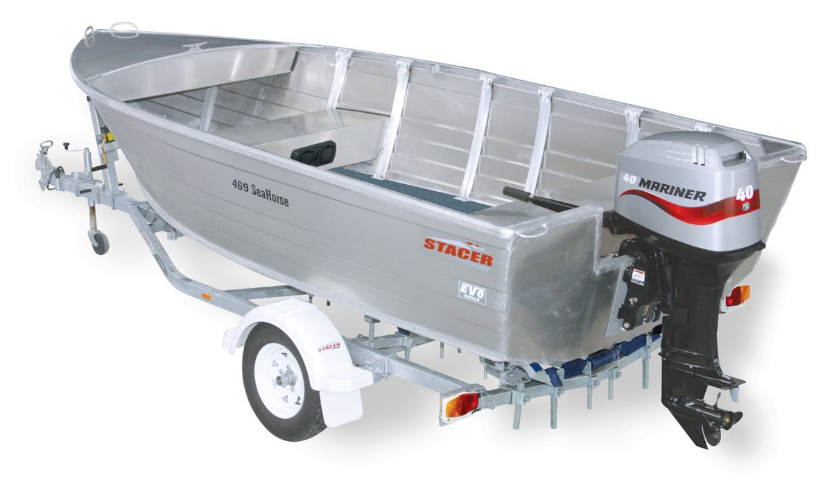 Stacer 469 Seahorse + Yamaha 40hp Four Stroke Outboard Motor