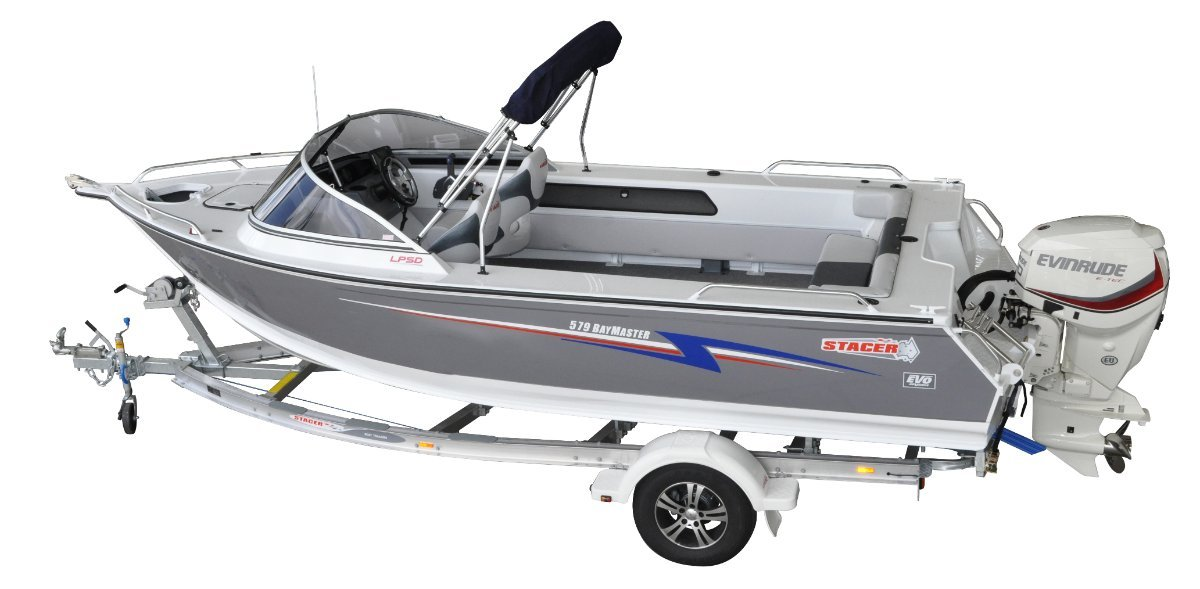 New stacer 579 bay master yamaha 90hp four stroke for Yamaha motor boats for sale