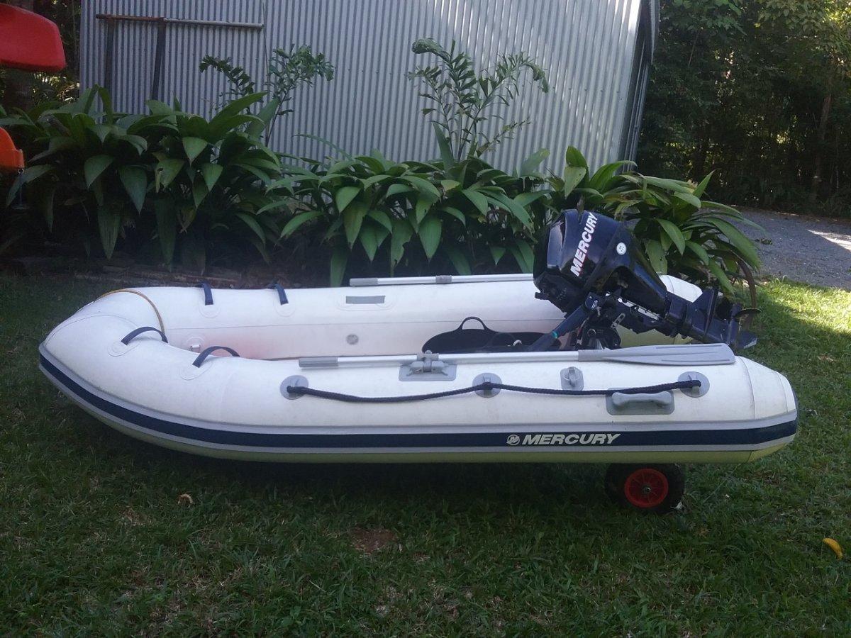 Mercury 340 Ocean Runner RIB Inflatable tender with motor