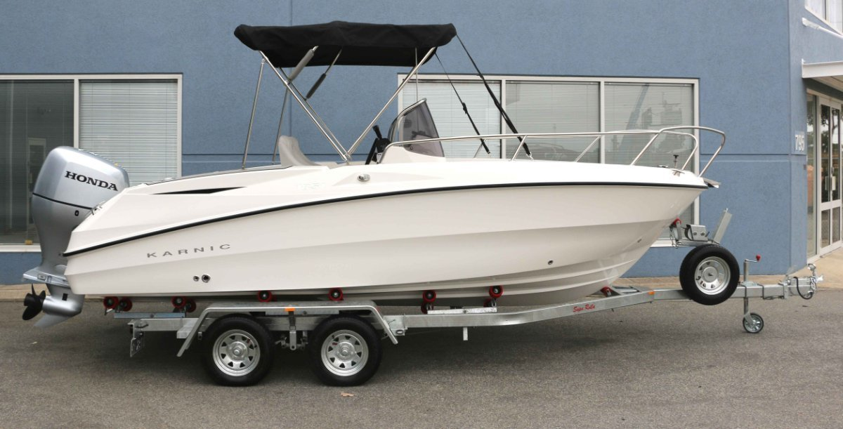 Karnic 1851 Open Fitted with HONDA 115hp outboard. Driveaway:New MKII drive away!