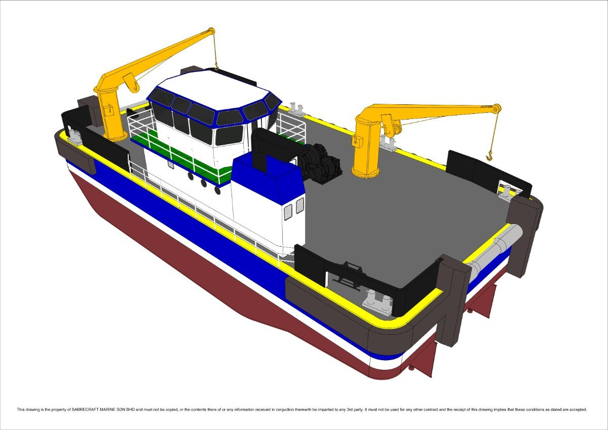 Sabrecraft Marine Barge Multi Cat Utility Vessel Work Boat