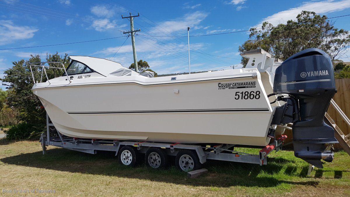 Cougar Cat 26 Built to Survey. Boat Brokers of Tasmania