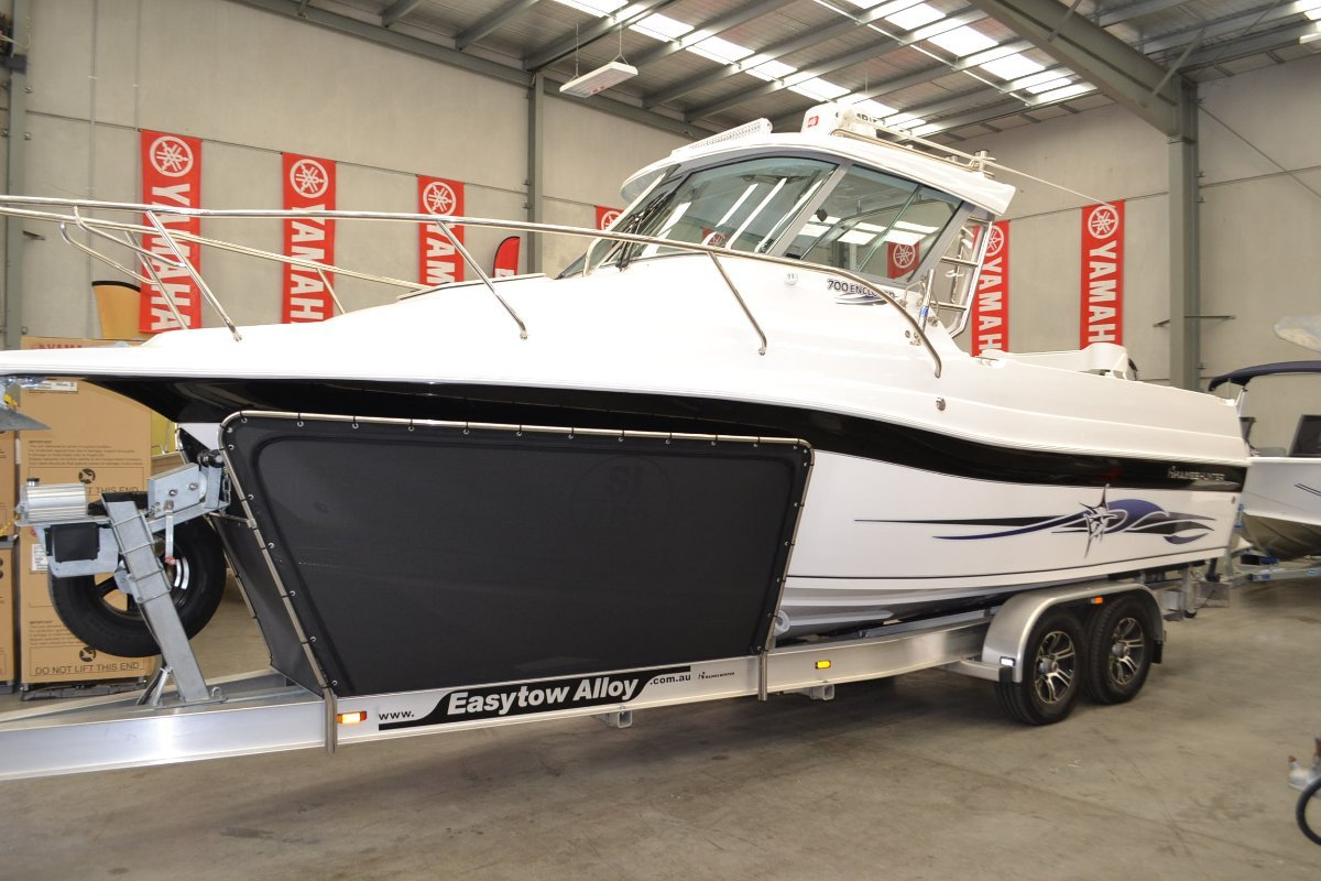 Haines Hunter 700 Enclosed Powered with Twin 200 HP Yamaha 4 Stroke $176850