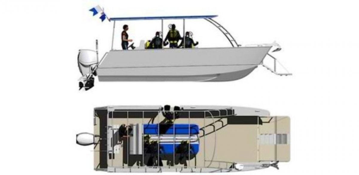 8m Dive Boat with Bow Landing