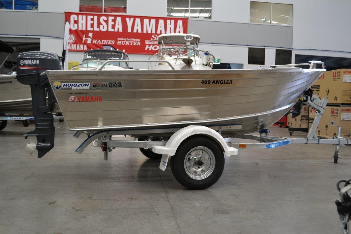 Horizon Aluminium Boats 400 Angler powered 30HP Yamaha $7999