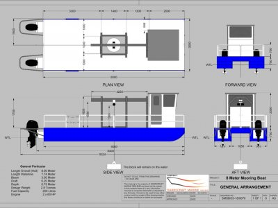 Sabrecraft Marine Work Boat 8000 CAT Work Boat Barge with Moonpool