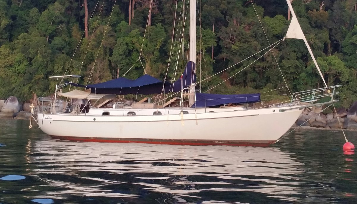 Westsail 43 Yacht for sale in Langkawi:uchara Westsail 43 for sale in Langkawi