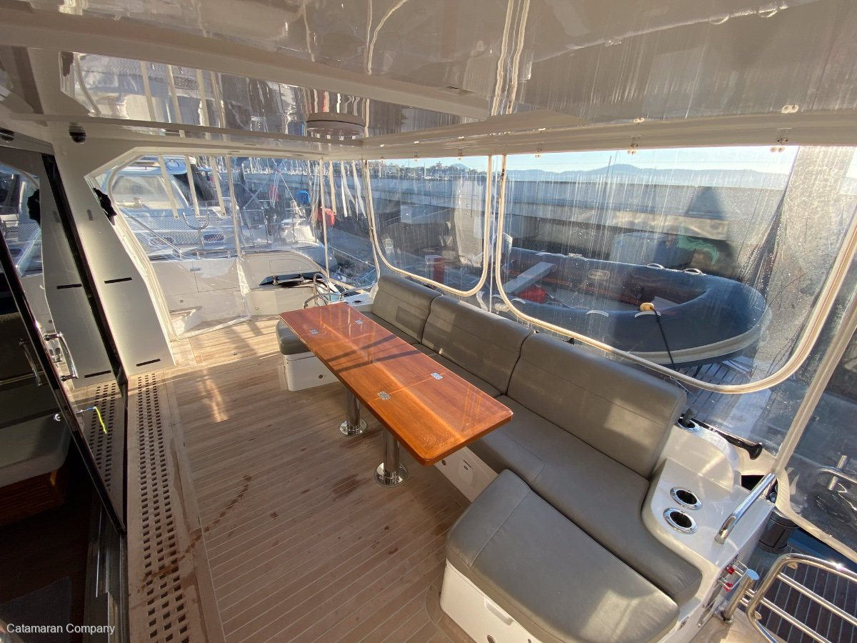Hudson 48 Enclosed Flybridge Power Catamaran