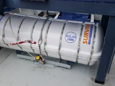 Surviva Mk4 SOLAS 16 man coastal liferaft in survey