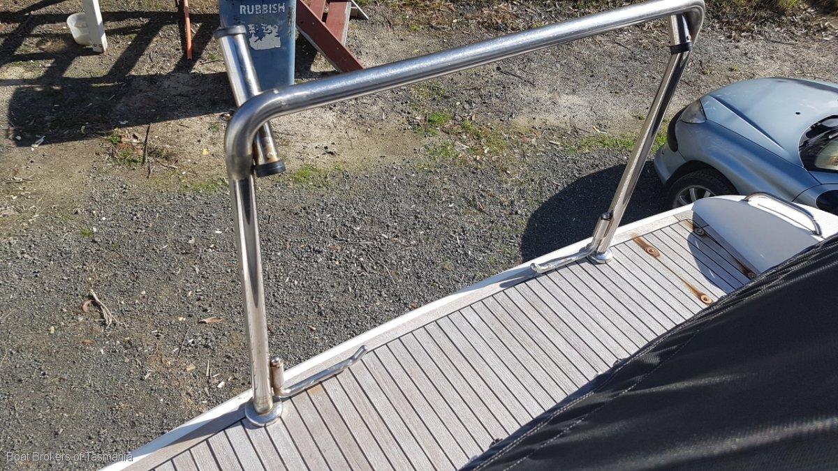 Omega 2 Mustang 3400 Sportscruiser For sale by Tender. Boat Brokers of Tasmania