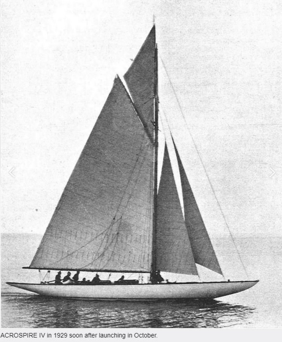 Historic International Class racing yacht