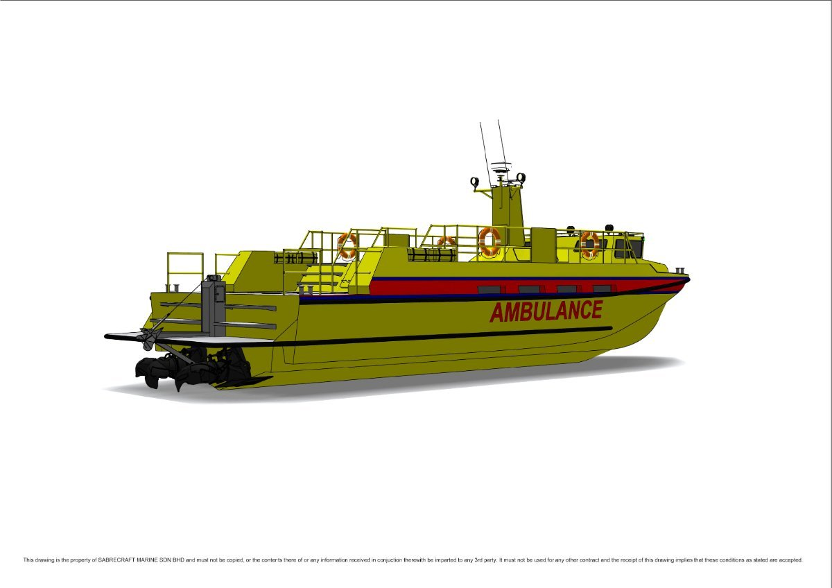 Sabrecraft Marine Ambulance Rescue Boat 18000 AirRide Express
