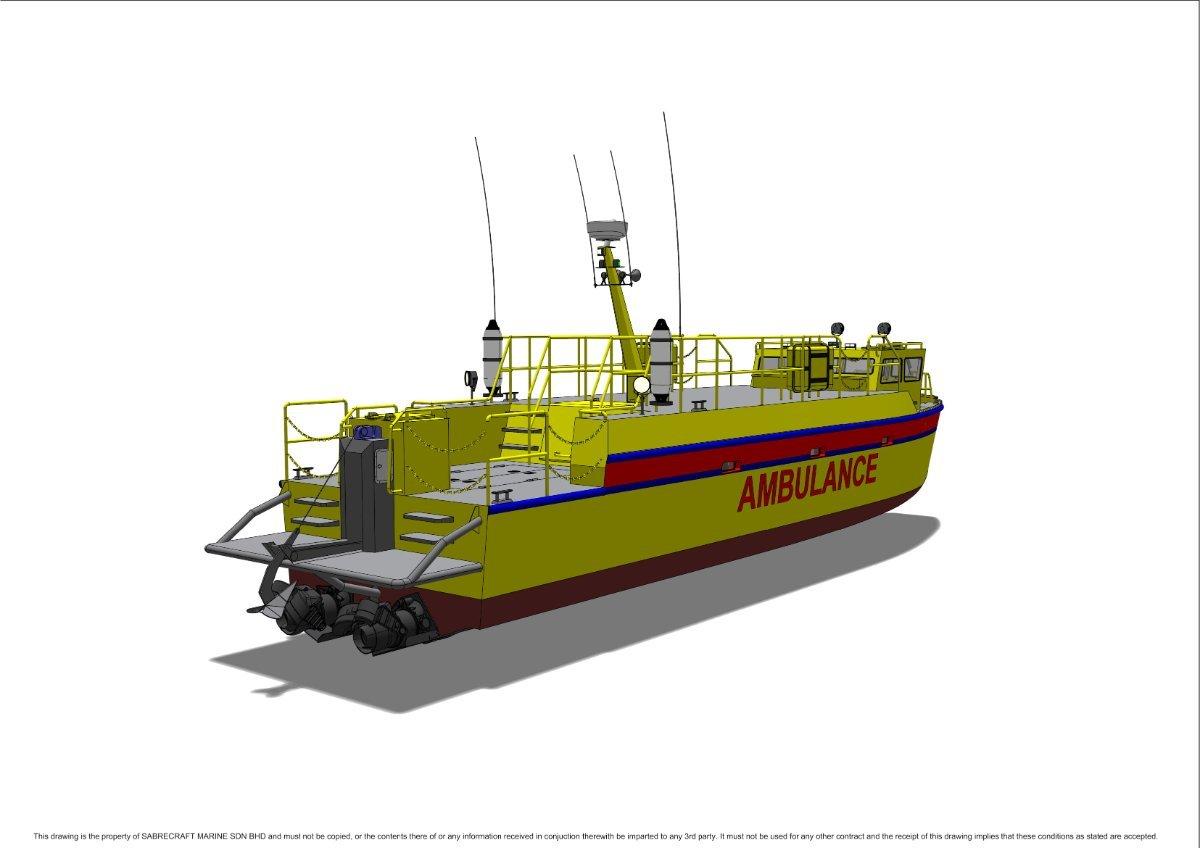 Sabrecraft Marine Ambulance Rescue Boat 15000 Mono
