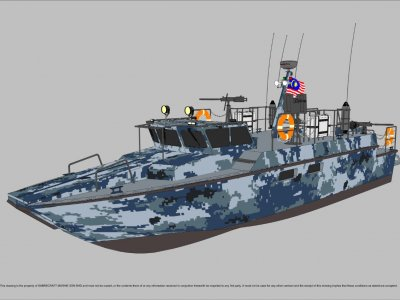 Sabrecraft Marine Patrol Mono 15000 Gun Boat