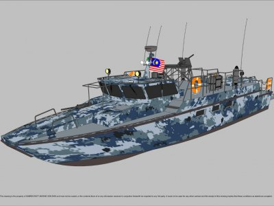Sabrecraft Marine Patrol Mono 18000 Gun Boat