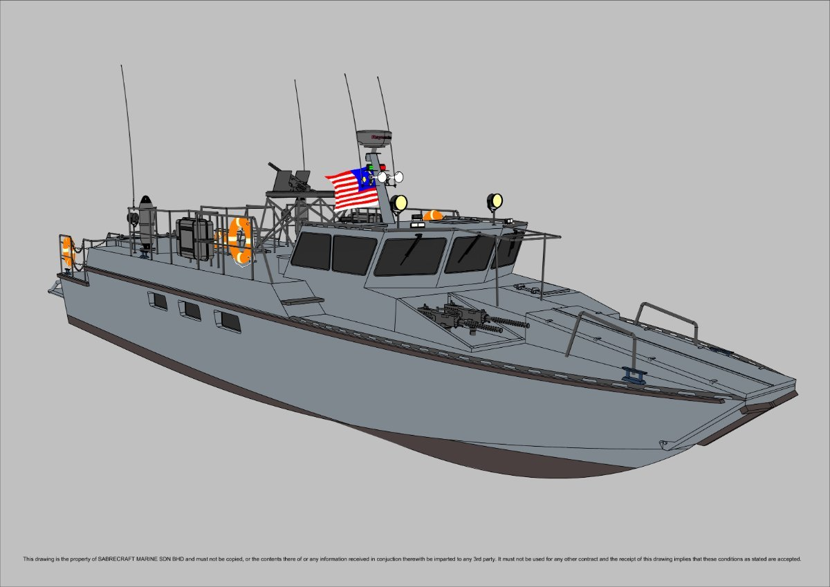 New Sabrecraft Marine Patrol Mono 18000 Gun Boat