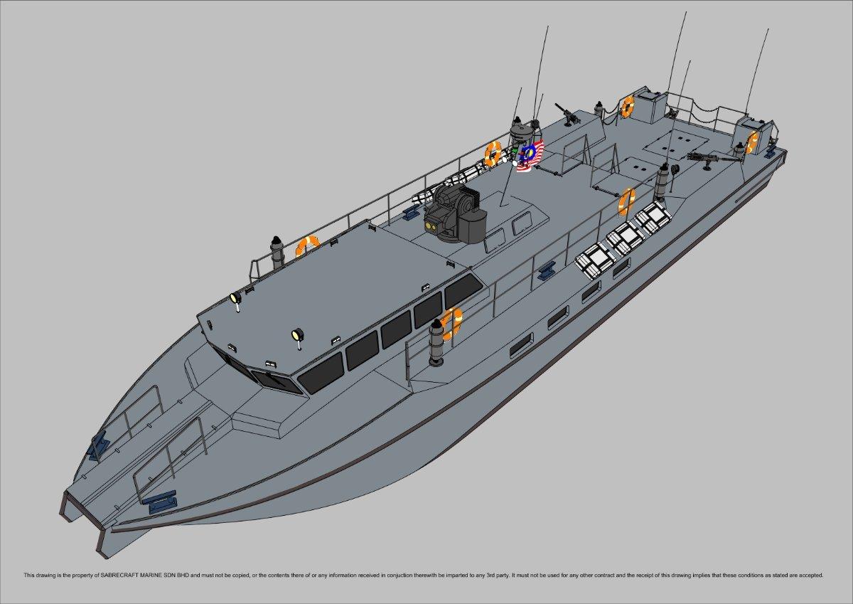 Sabrecraft Marine Patrol Mono 25000 Gun Boat
