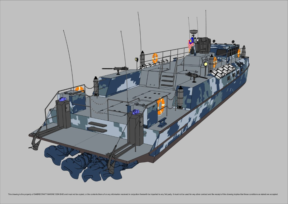 New Sabrecraft Marine Patrol Mono 25000 Gun Boat