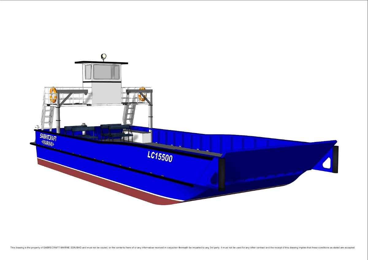 Sabrecraft Marine Landing Craft 15500m Work Boat Bunker Barge