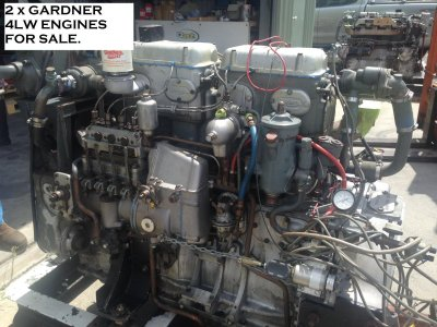 GARDNER 4LW (68bhp) ENGINE with NEW HYDRAULIC GEARBOX