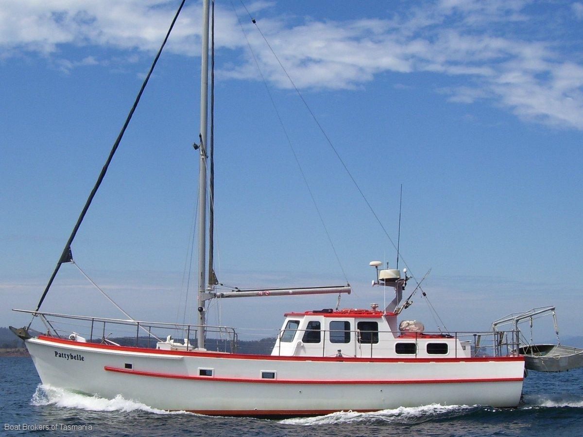 219097 - 44 foot Custom Huon Pine Motorsailer.