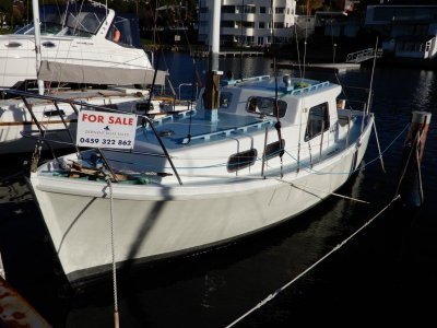 Jock Muir Huon Pine Motorsailer URGENT SALE REQUIRED