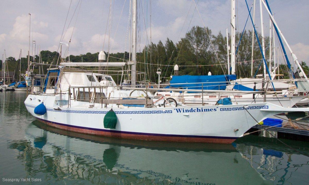John Pugh Fairwind 46 Steel Boat for sale in Malaysia.:John Pugh Steel yacht for sale in Langkawi by Seaspray Yacht Sales.