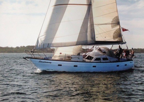 Duncanson 40 Deck saloon long distance cruising yacht:Under sail