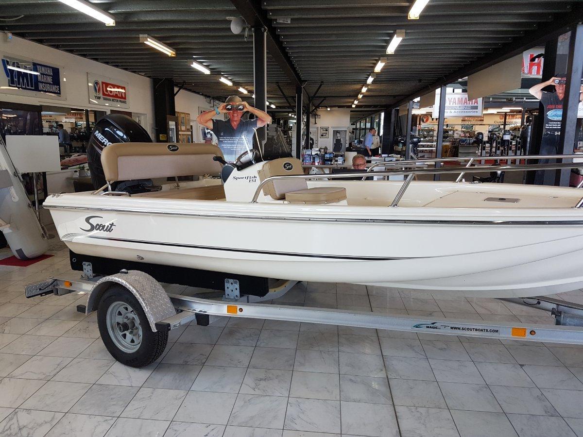 Scout 151 Sportfish 50HP MERCURY BIGFOOT