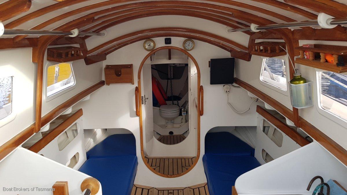 Blue Moon 2 Van De Stadt Dogger 31 A lovely boat. Best of its type Boat Brokers of Tasmania