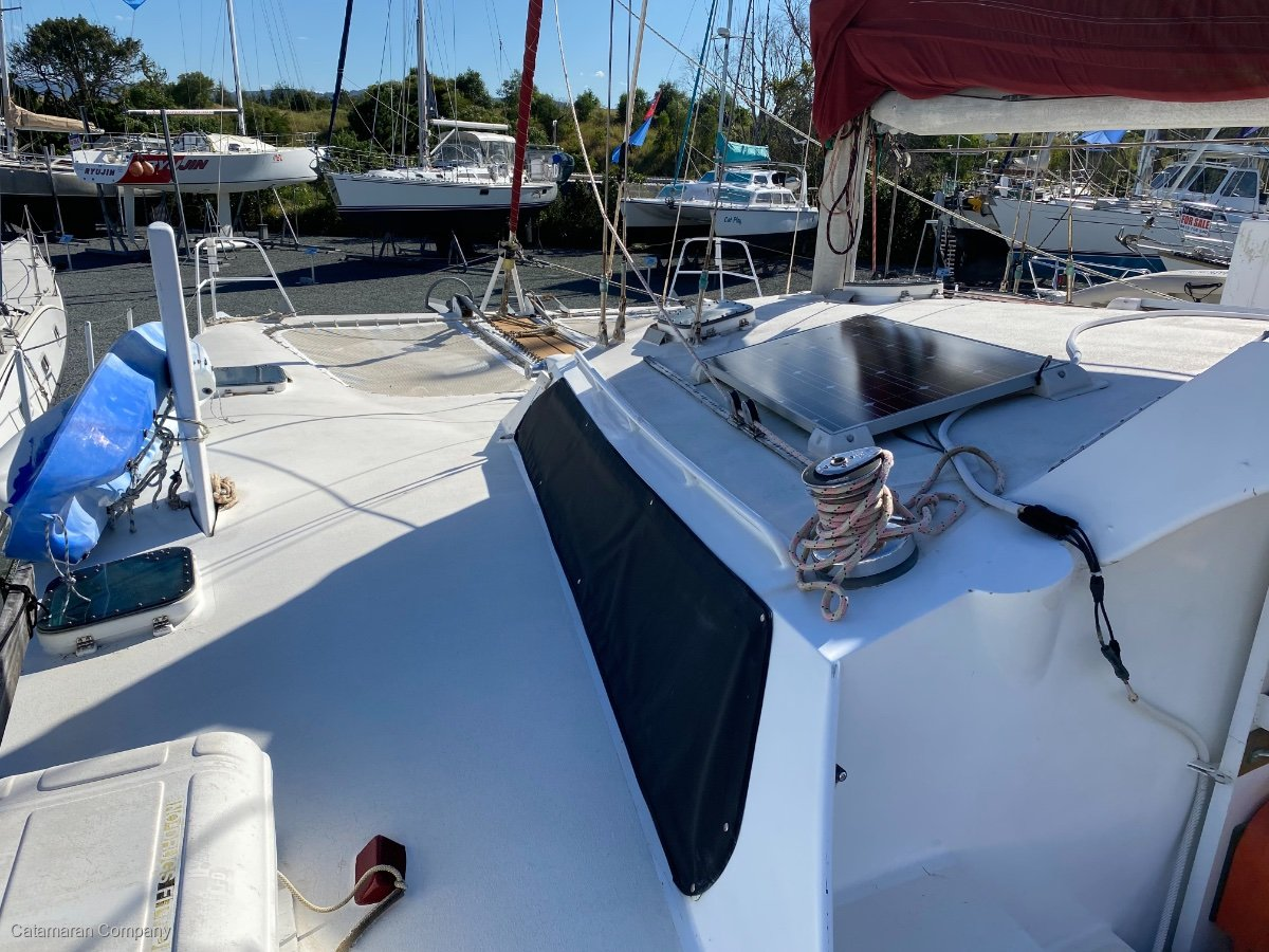 Easton 42 aluminium daggerboard cruising catamaran