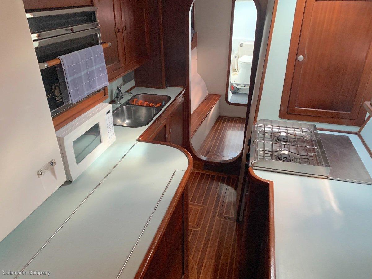 Easton 42 aluminium daggerboard cruising catamaran