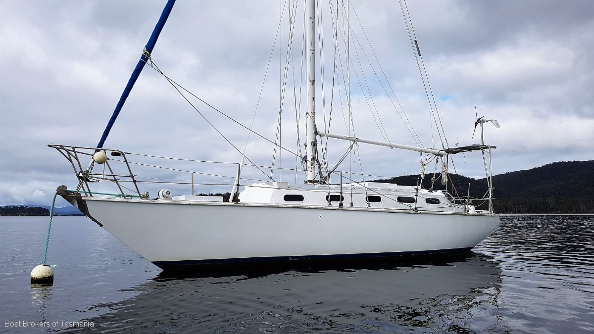 221929 - Roberts 36 sloop. Triple diagonal King Billy Pine.