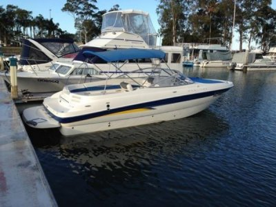 Bayliner 249 Bowrider Very large trailer boat.