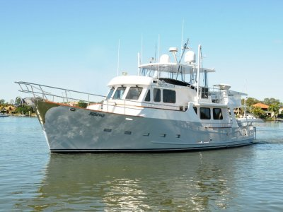Passagemaker Long Range Displacement Flybridge Cruiser