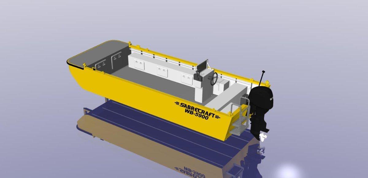 Sabrecraft Marine Work Boat Punt 5900 CE Approved