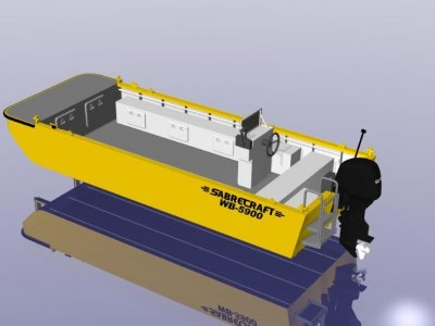 Sabrecraft Marine Work Boat Punt 5900 CE Approved