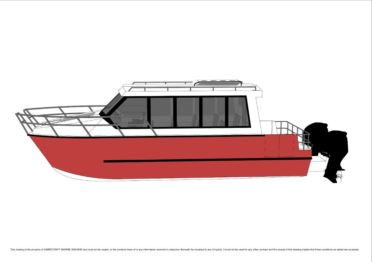 Sabrecraft Marine Crew Change Boat 18 Seat