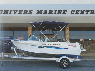 Quintrex 450 Fishabout - Evinrude 40hp *New Arrival, 2019 Plated