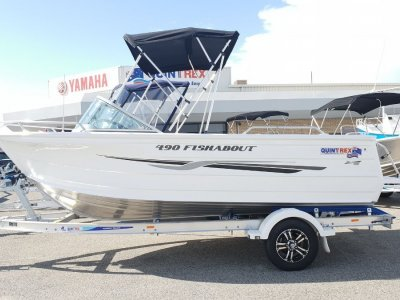 Quintrex 490 Fishabout - Evinrude E90 *New Arrival, 2019 Plated