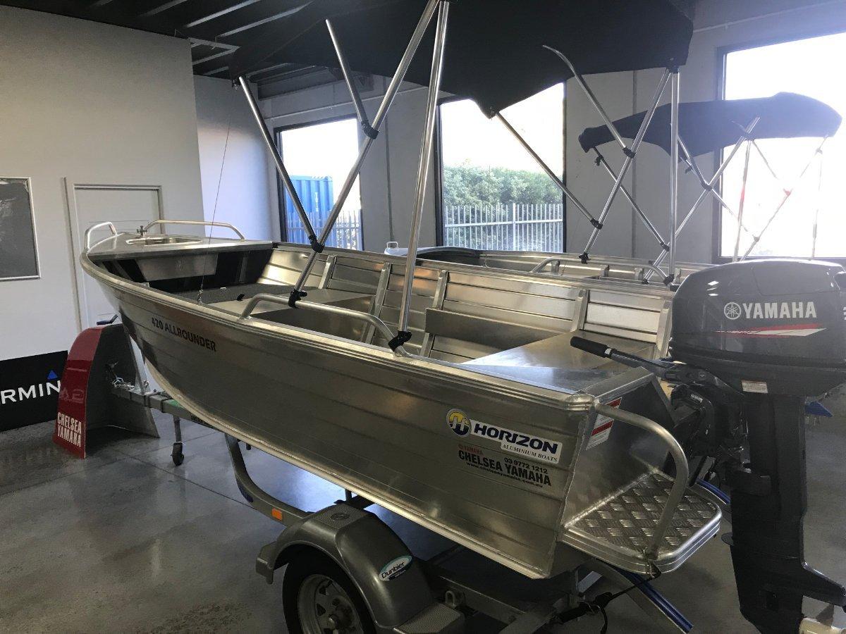 Horizon Aluminium Boats 420 Allrounder Powered by 30hp Yamaha 2 Stroke $9,600
