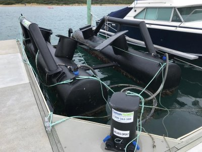 Custom floats 6 metre dry dock